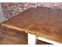 Pine Extending Extendable 4ft to 6ft Farmhouse Pine Dining Kitchen Table - Free Delivery