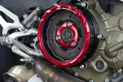 KBIKE Ducati 1199/1299/959 PANIGALE Billet Anodized See Thru Clutch Cover RED
