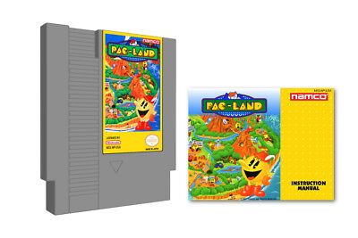 Pac-Land Nintendo NES & Instruction Manual Booklet Lot Namco Pac-Man Pac Land