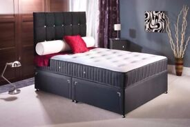 ❋❋【EXPRESS SAME DAY DELIVERY】❋❋ NEW DIVAN BED + HEADBOARD DIVAN BED BASE SINGLE DOUBLE KINGSIZE