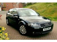 2004 Audi A3 2.0 Tdi Sport 140 Bhp 6 Speed, Full History Mot 11 Month Rear Parking Aid, 6 Cd Changer