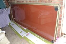 3 x Red Glass Mirror Fitted Wardrobe Doors