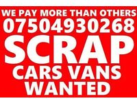 07504 930268 Cars vans motorcycle wanted scrap no mot cash today Bmw