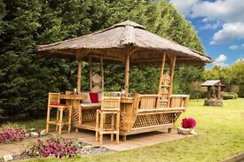 brand new garden gazebo ideal for any party, summer time fun, barbeque area, sits 8-10 people