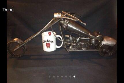 "Unique ""Metal Chopper"" Sculpture"