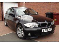 2005 BMW 1 SERIES 2.0 120D SPORT 170 BHP 6 SPEED FULL LEATHER SEATS, 1 OWNER 2 KEYS MOT 12 MONTH