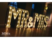 4ft illuminated Mr&Mrs letters and more