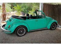 LHD VW Beetle 1972 Convertible Mint Colour