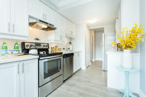 1 BED UNITS - NEW RENO - INSUITE LAUNDRY & AC - JUNE 1ST