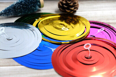 6pc Ceiling Hanging Swirl Metallic Wedding Christmas Party Birthday Decoration](Hanging Ceiling Christmas Decorations)