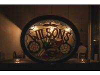 Experienced Chef De Partie. Wilsons Restaurant.