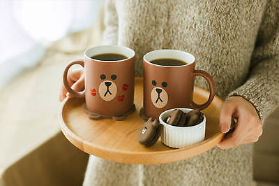 [LINE FRIENDS] Official Goods BROWN Two Face Ceramic Mug 330ml