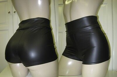 NEW TRENDY FITTED HIGH WAIST FAUX LEATHER HOT SHORTS JR. PLUS XL 1X 2X 3X 4X