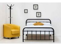 Brand new double bed frame black metal