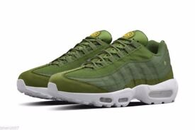 nike air max 95 hyperfuse stussy green khaki white all sizes paypal delivery BNIB