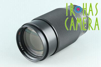 Contax Carl Zeiss Tele-Tessar T* 200mm F/3.5 AEG Lens for CY Mount #27460 A1