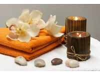 Relaxing massage professional male therapist