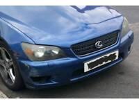 Lexus is200 blue 8n8 front bumper complete 98-05 breaking spares is 20p is300