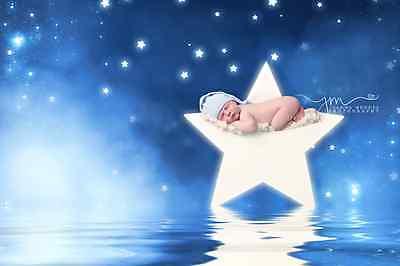 Newborn Baby Wooden Star - Photo Prop for Newborn Photography UK MADE