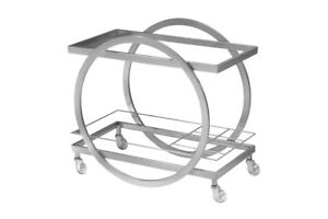 Chrome Bar Cart - modern, mint condition at a steal!