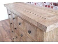 Country Farmhouse Chest of Drawers Cabinet Antique Style Haberdashery