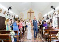 Stunning Bespoke Custom Made Wedding Dress - Soft Ivory Silk Duchess Satin