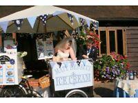 Icecream bike hire, Essex / London / Suffolk / Surrey / Kent icecream cart / icecream tricycle hire