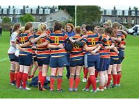 Give rugby a go!! Ladies players welcome. No experience needed.