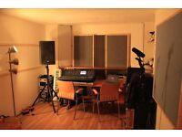 Large rehearsal / music production studio for monthly hire in creative music space Fort Rock BN41