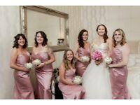 3x beautiful dusky pink bridesmaid/ prom/ formal dresses