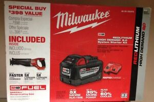 Milwaukee Fuel Sawzall M18 9.0 HD starter kit