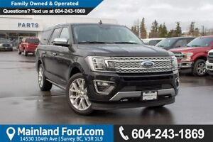 2018 Ford Expedition Max Platinum ACCIDENT FREE, LOCALLY DRIV...