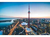 1 x Return Flight to Toronto, Canada September 12th 2018 to 19th Sep 2018