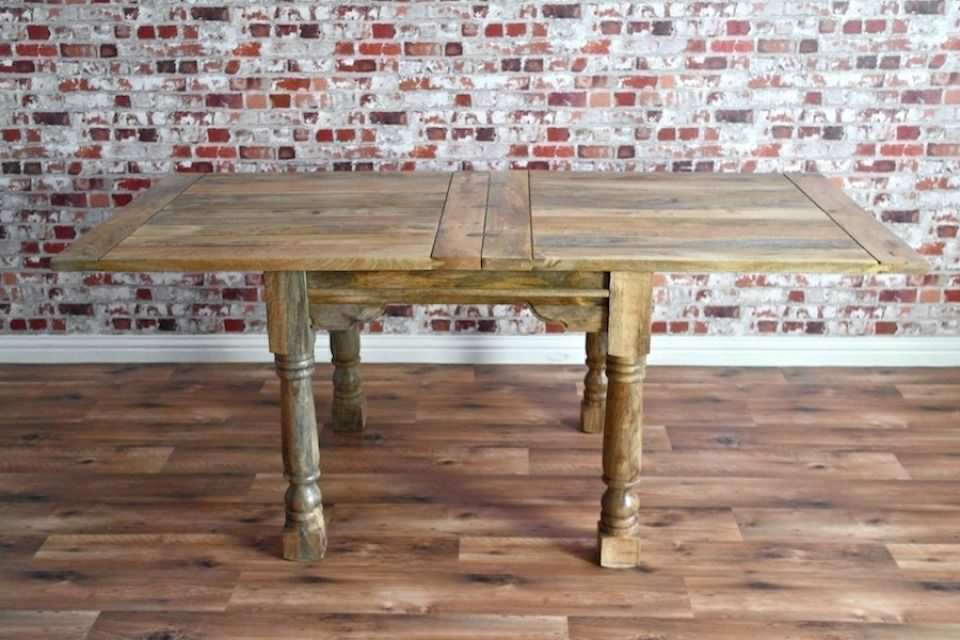 e3450e6601d258 Extending Rustic Farmhouse Dining Table Set Chairs Oak Style - Extendable  and Spacing Saving