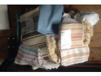 JOB LOT various fabric material & rope