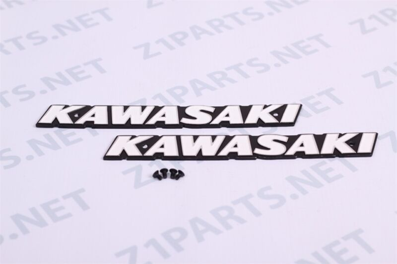 Kawasaki z1 900  Early Gas Tank Emblems 122mm- pair