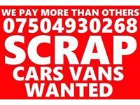 🇬🇧 07504 930268 SELL MY CAR VAN MOTORCYCLE FOR CASH BUY YOUR SCRAP essex London Kent