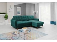 ✅New✅GREEN✅Corner Sofa Bed with storage✅free delivery✅