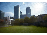 5 a side for 2 hours football Canary Wharf Sundays 3-5pm £6