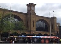 Assembly & build of regular food Market outside Kings Cross Station