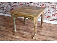Reclaimed Farmhouse Dining Kitchen Extending Rustic Table Extendable -3 ft - 6 ft - Free Delivery