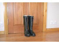 Rainboots natural rubber, as new, EU fitting size 36.5-37 EU, dark green