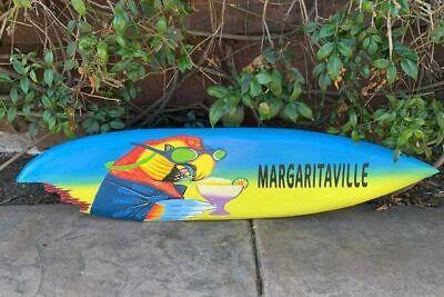 Tropical Surfboard Sign Margaritaville Parrot Head Beer Tiki Bar Wall Plaque 39
