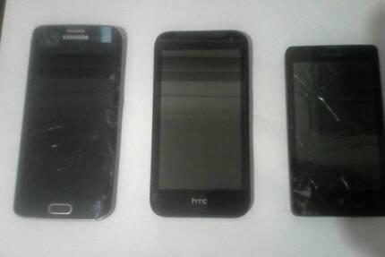 BROKEN/INCOMPLETE PHONES