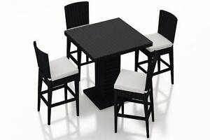 NEW PE Rattan Wicker Outdoor Chairs and Bar Table 5 Pieces YFF124 Auburn Auburn Area Preview