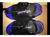 Tennis rackets Slazenger x2 and comes with original carry cases.