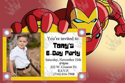 Kids Ironman Birthday Party Invite Template (Birthday Party Template)