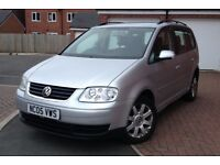 2005 VW TOURAN 2.0 TDI SE 140 BHP 6 SPEED 7 SEATER 112K FULL HISTORY 2 KEYS MOT 12 MONTH NEW TYRES
