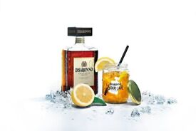 Disaronno Sour Jar Glasses With Lids - Brand New (Price for 2x)