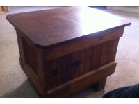 military packing case coffee table